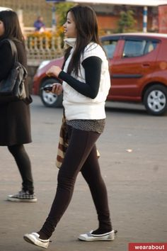 Women of Shillong, India Shillong, Two Ladies, Fasion, Street Fashion, Police, Two By Two, Sporty, Street Style, Indian