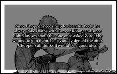 One Piece Ahora recuerdo algo en el ultimo especial de OP Zoro se puso celoso cuando uno de los nakamas de Foxy llamo a Robin señorita....Sera que???
