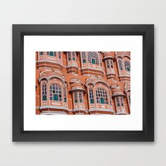 Pink+City+of+India+Framed+Art+Print+by+shamik+-+$32.00