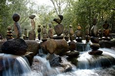 Gravity Glue, Incredibly Precarious Stacked Rock Sculptures