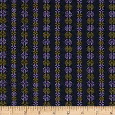 Amy Butler Bright Heart Stitchy Dots Navy from @fabricdotcom  Designed by Amy Butler for Free Spirit, this cotton print is perfect for quilting, apparel and home decor accents. Colors include navy blue, lilac and yellow-green.