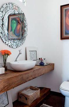 Decoração: 10 ambientes em branco com madeira! - Jeito de Casa - Blog de Decoração