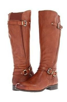 Brown Riding Boots! Leather with Buckles and calf stretch. Fall and winter 2013 2014. Cute with jeans, skirt or dress ♥ Find this look at @SPARKTREND for $34, click the image to see! #riding #boots #boot