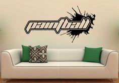 Paintball Logo Wall Decal Paintball Title Vinyl by BestDecalsUSA