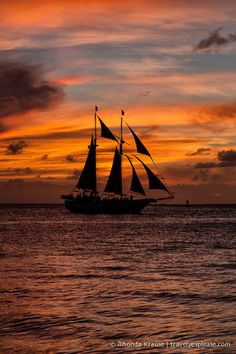 Sunset sail in Key West, Florida