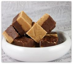 Double decker chocolate peanut butter fudge...