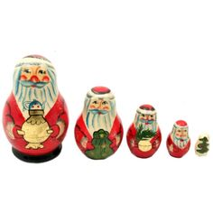 want to paint Christmas Santa nesting dolls for Aunt Carri for X-mas!