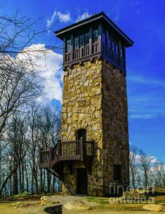 Old Fire Observation Tower at Fort Mountain Georgia Sustainable Architecture, Architecture Details, Lookout Tower, Tower House, Modern Mansion, Forest House, Stone Houses, House Layouts, Tour