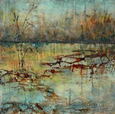 64 Ideas For Landscape Art Painting Abstract Peter Otoole Landscape Art, Landscape Paintings, Wax Art, Encaustic Painting, Art For Art Sake, Art Techniques, Oeuvre D'art, Illustration, Abstract Art
