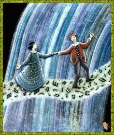 "Maria Battaglia illustration for ""Il Flauto Magico""."