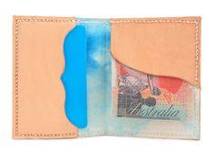Splitter Billfold Moo Leather Wallet - Hemp Lined Wallet - Card and Cash Wallet - Handmade Gift - Handcrafted in Byron Bay by ByronBound on Etsy https://www.etsy.com/listing/470232495/splitter-billfold-moo-leather-wallet