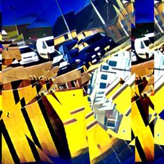 #harbor #art #glitchart #glitch #boat