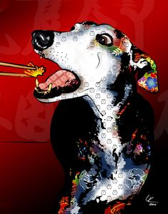 Sushi, Greyhound Dog Digital Pop Art Print, via Etsy. Greyhound Kunst, Dog Day Afternoon, Lurcher, Grey Hound Dog, Dog Years, Dog Costumes, Italian Greyhound, Dog Quotes, Dog Design