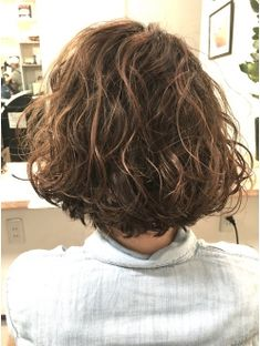 Wavy Hair Perm, Short Curly Hair, Short Hair Cuts, Retro Hairstyles, Short Bob Hairstyles, Medium Hair Styles, Curly Hair Styles, Hair Arrange, How To Make Hair