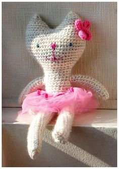 Rose, the ballerina cat. Made by me #crochet #amigurumi