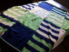 Manta cuadrados tricot