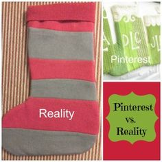 Christmas Stocking-Pinterest Vs. Reality | Craft Dictator