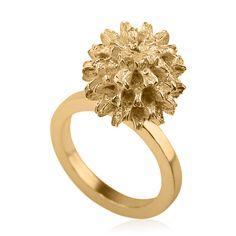 Leaf Casuarina 14k yellow gold from Liat Waldman Jewelry by DaWanda.com