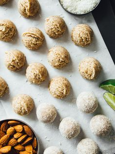 Almost raw coconut-lime bites
