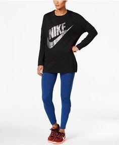 Nike Metallic Top & Leg-A-See Leggings - Activewear - Women - Macy's