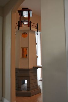Lighthouse cat tower