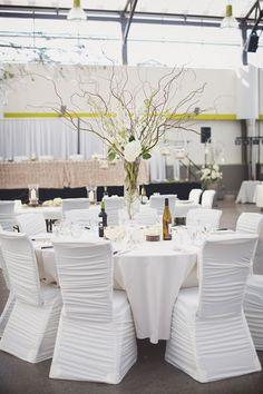 Modern Edmonton Wedding in All White Decor - MODwedding