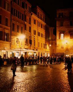 Rome Photograph - Italy Photography - Dark Mysterious Print - Night Photo - Yellow Orange Warm Colors - Home Decor - Italian. $30.00, via Etsy.