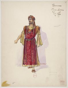 "Costume design (1907), by Charles Bétout (1869-1945), for Nour-Eddin, in ""Thamara"" (1881), by Louis-Albert Bourgault-Ducoudray (1840-1910)."