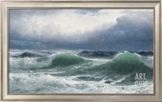Stormy Sea with Translucent Breakers, 1894 Giclee Print by David James at Art.com