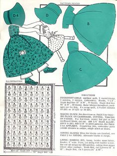 Sunbonnet Sue quilt pattern by Woof Nanny, via Flickr