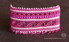 Wide Macramé Cuff Bracelet Tutorial