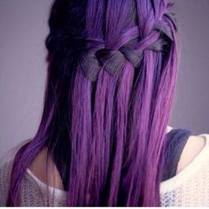 Purple / black hair braid so pretty
