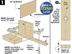 Tall Featherboard for Table Saw Woodworking Guide, Custom Woodworking, Woodworking Projects Plans, Teds Woodworking, Table Saw Jigs, Diy Table Saw, Table Saw Accessories, Homemade Tools, Furniture Plans