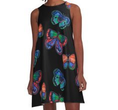 A-Line Dress with Tangerine Meg's butterfly design. Obsessed with the A-line dresses!