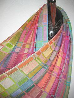 YOUR CUSTOM ORDER Handwoven Geometric Silk Shawl by tisserande