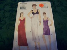 Vogue Dress Sewing Pattern 9814 size 81012 by vintagecitypast, $6.50