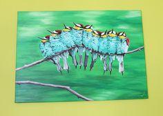 Wanddeko - Bild auf Leinwand Handbemalt - ein Designerstück von Ortons bei DaWanda Designer, Moose Art, Etsy, Artwork, Animals, Wall Canvas, Artworks, Work Of Art, Animales