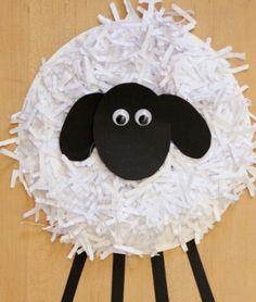 Pappteller-Schaf