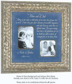 Personalized Wedding Gift for Parents of Bride or Groom - Poem Frame ...