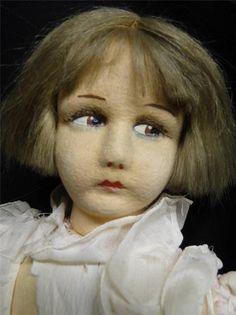 """Rare Early Lenci 26"""" Boudoir Felt Doll"""