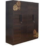 Buy Prado Four Door Wardrobe in Oak  colour by @Home by @ Home online from Pepperfry. ✓Exclusive Offers ✓Free Shipping ✓EMI Available