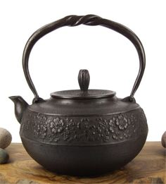 Cast Iron Teapot Kettle – Spring Blossom Tetsubin Nambu Tekki. NAMBU TEKKI is a traditional ironware that has been produced since the 17th century in the area known as Nambu (around Morioka in Iwate Prefecture). Specifically, the ironware is produced in the two cities in Iwate: Morioka City, and Mizusawa City (which is currently a part of Oshu City). NAMBU TEKKI is known for its deep black beautiful form with practical function.