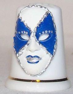 Collectable Fine Bone China Volto Mask Thimble