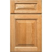 PLAZA Cherry Raised Panel Square with 5-Piece Drawer Front Cabinet Door