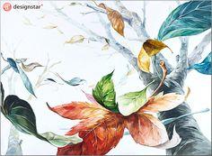 blog.naver.com/... #디자인스타, #미술학원, #기초디자인, #입시미술, #입시디자인, #미대입시, #나뭇잎, #나무 Floral Illustrations, Illustration Art, Picture Composition, Silk Painting, Botanical Art, Copic, Colored Pencils, Color Inspiration, Decoupage