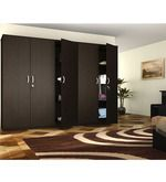 Housefull Eliza 5 Door Wardrobe in Wenge Wooden Storage Boxes, Storage Ideas, Tall Cabinet Storage, Organize, Doors, Rustic, Furniture, Home Decor, Wooden Storage Bins