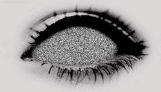 scary gif girl Black and White eyes creepy horror b&w eye dark darkness Demon Macabre