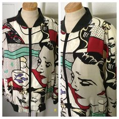 Vintage 80s Lichtenstein comic jacket by nanapatproject on Etsy, $58.00