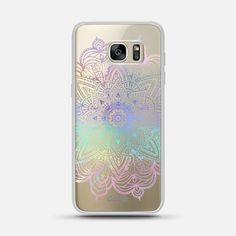 Rainbow Holographic Mandala Lace Explosion - Classic Snap Case