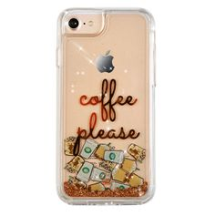 Coffee Please Glitter iPhone Case